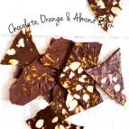 Raw Chocolate, Orange & Almond Bark