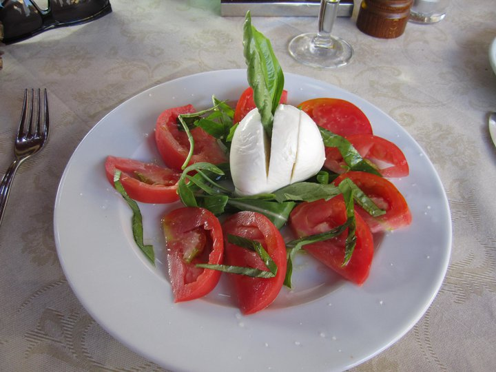 My first taste of Insalata Caprese... in Capri!
