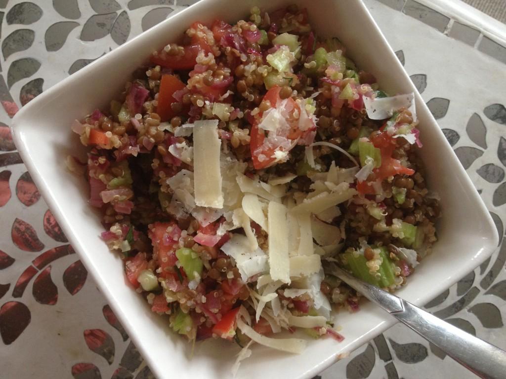 Lentil & Quinoa Salad | Nadia Felsch