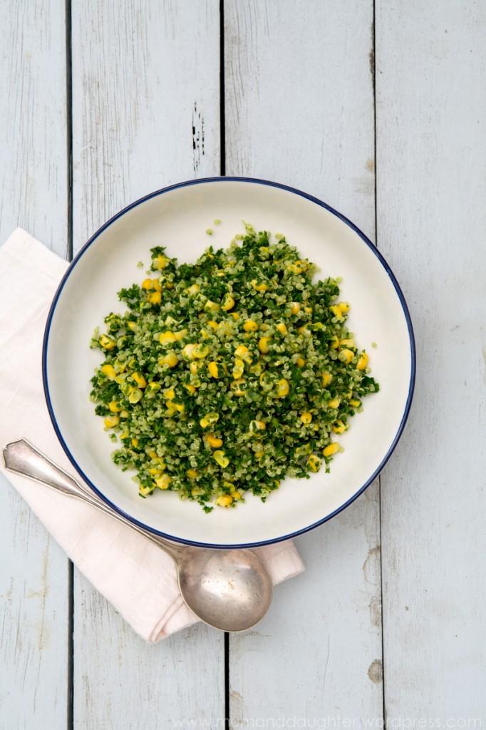 Kale, Corn & Quinoa Salad | Nadia Felsch
