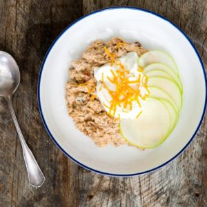 5 minute breakfast - Orange Bircher Muesli