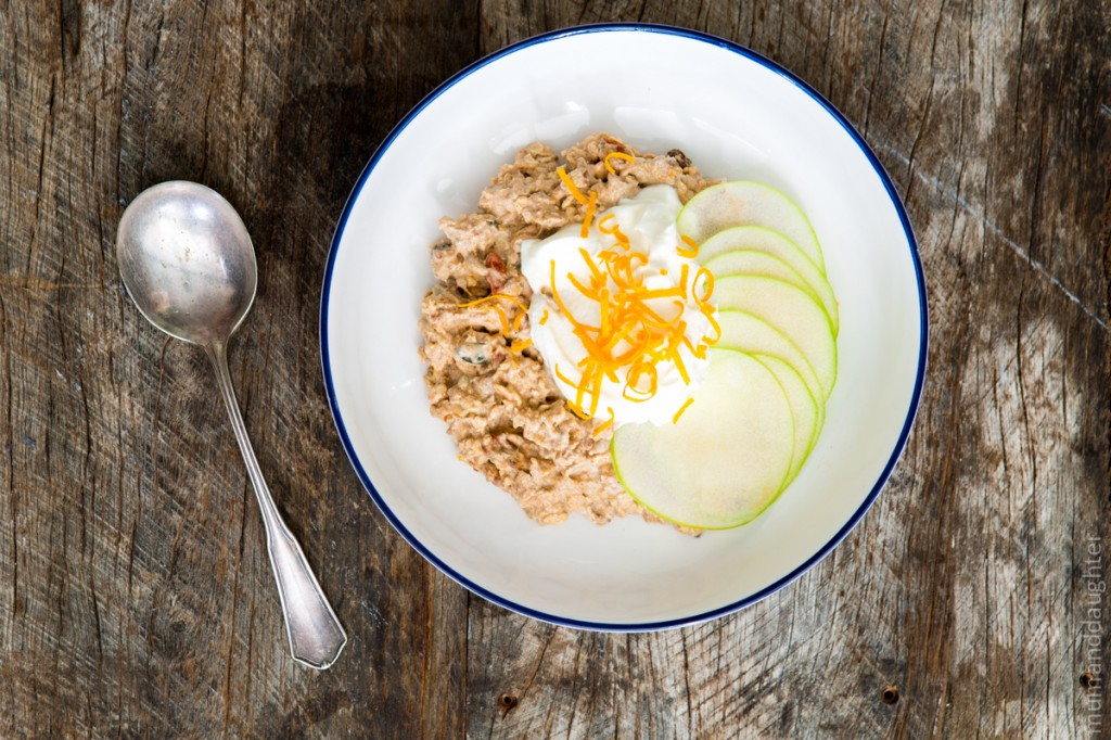 5 minute breakfast – Orange Bircher Muesli