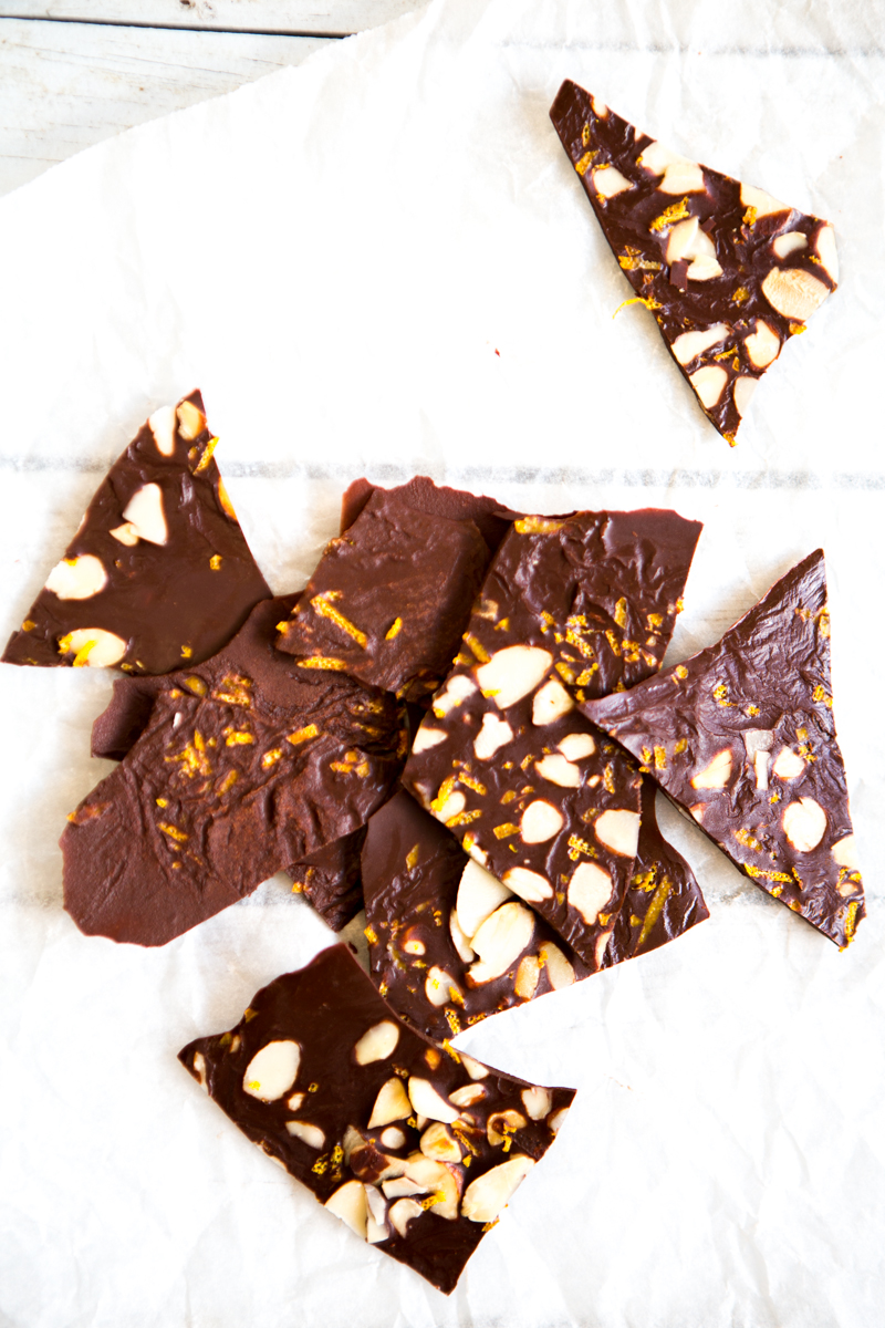 Raw Chocolate, Orange & Almond Bark | Nadia Felsch