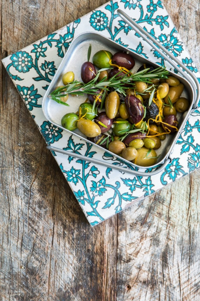 Orange & Rosemary Marinated Olives | Nadia Felsch