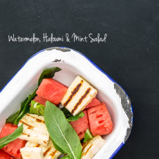Watermelon, Haloumi & Mint Salad