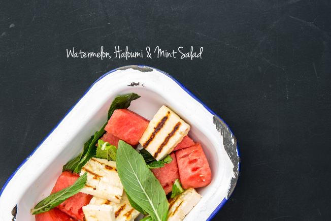 Watermelon, Haloumi & Mint Salad