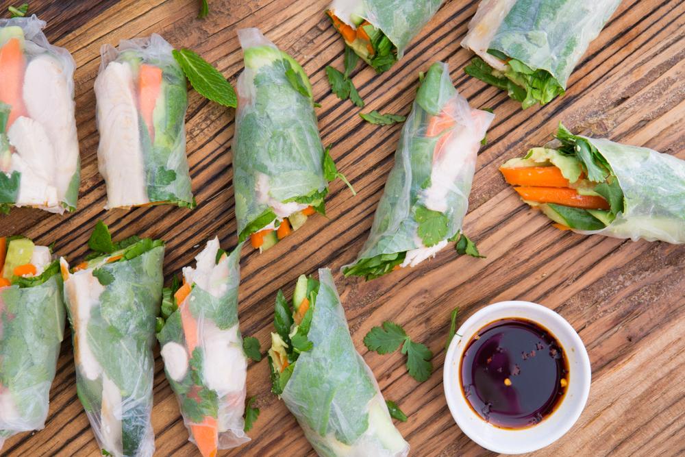Chicken Rice Paper Rolls | Nadia Felsch