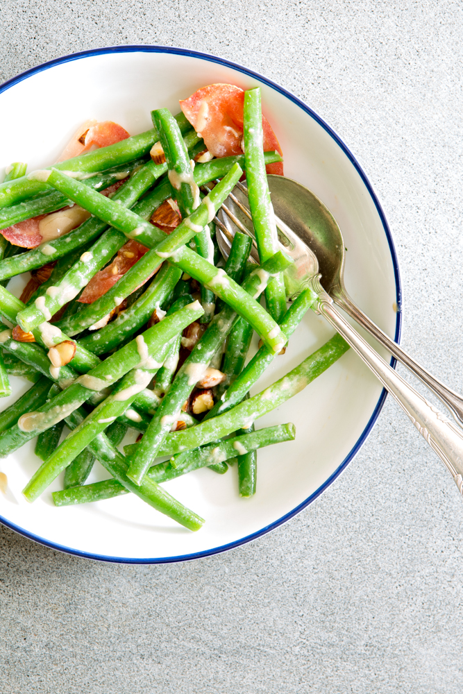 Green Beans with Tahini dressing | Nadia Felsch