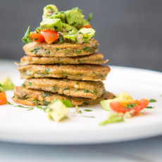 Green Quinoa Fritters with Chunky Avocado Salsa
