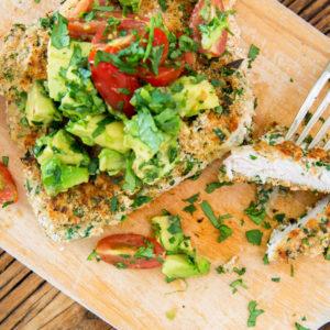 Chicken Schnitzel with Chunky Avocado Salsa