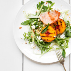 Grilled Peach, Fennel & Bacon Salad