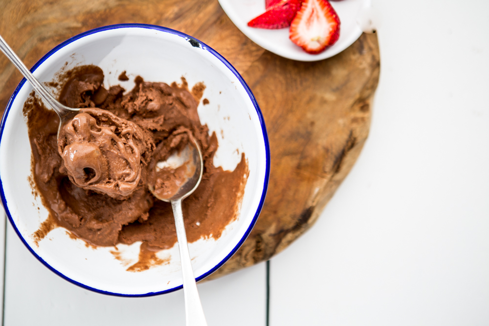 Healthy Chocolate Ice Cream | Nadia Felsch