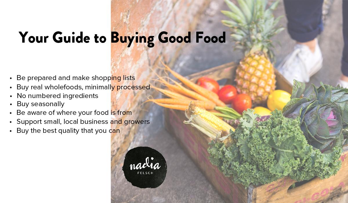 Good Food Buying Guide | Nadia Felsch