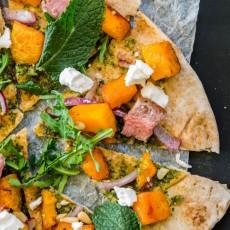 Pumpkin, Lamb & Pine Nut Pizza