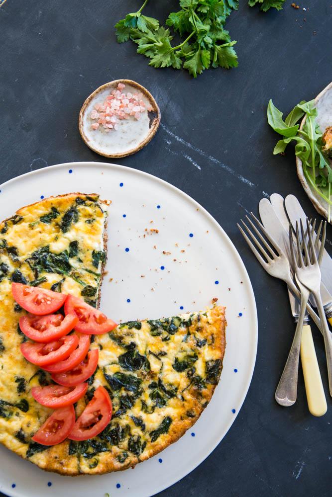 Spinach & Fetta Quiche | Nadia Felsch
