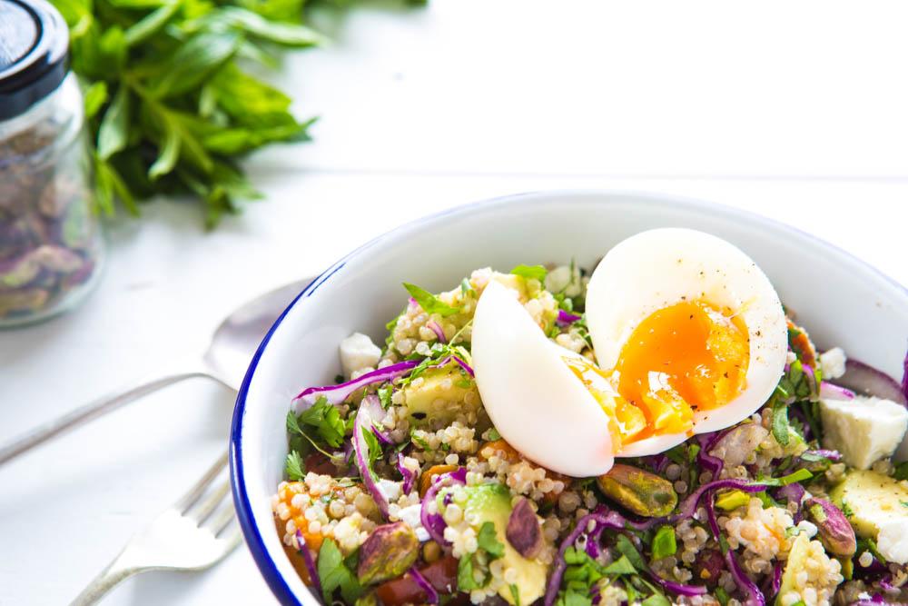 Quinoa, Pumpkin, Fetta & Pistachio salad | Nadia Felsch