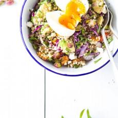 Quinoa, Pumpkin, Fetta & Pistachio salad