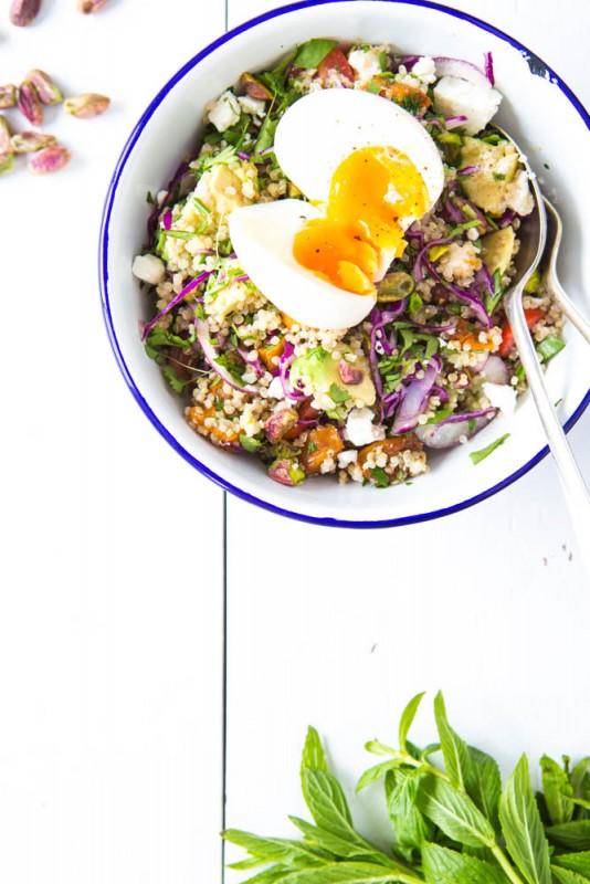 Quinoa, Pumpkin, Fetta & Pistachio salad   Nadia Felsch