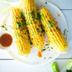 Grilled Corn with Paprika Butter