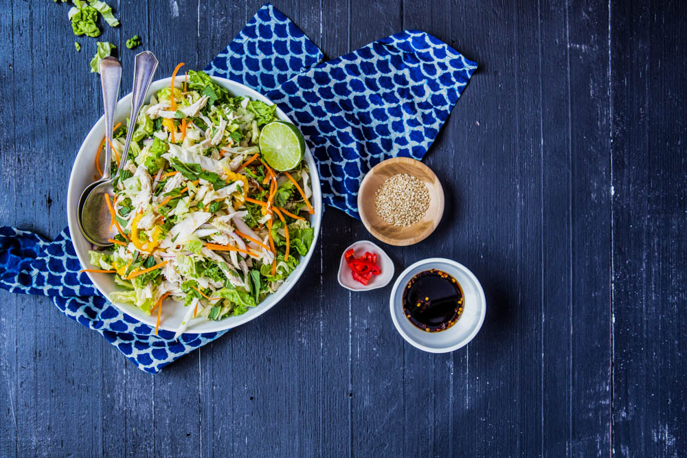 Asian Shredded Chicken + Mango salad