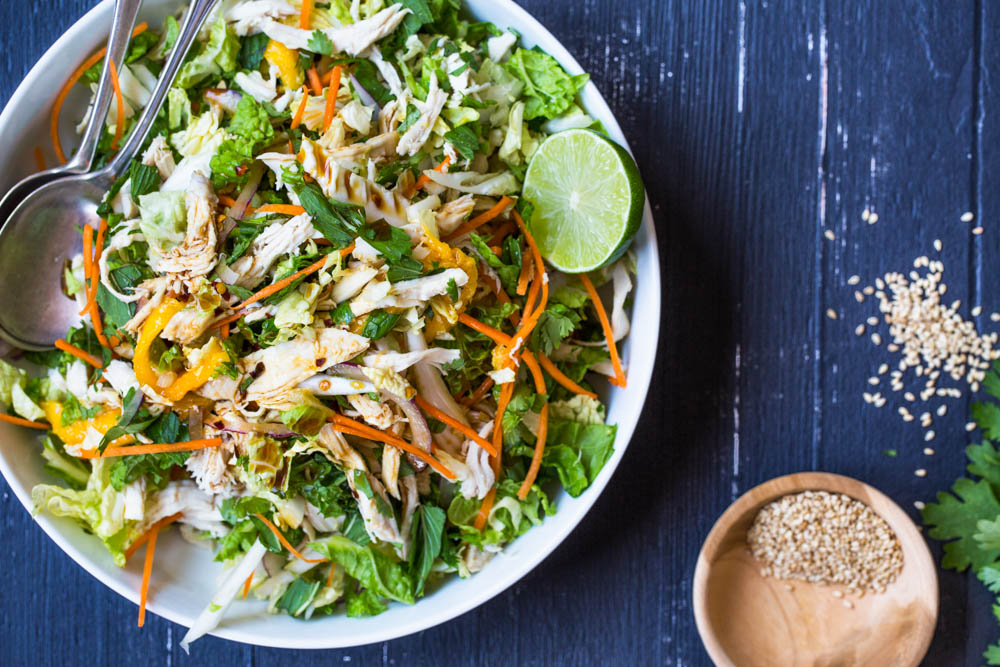 Asian Shredded Chicken + Mango salad | Nadia Felsch
