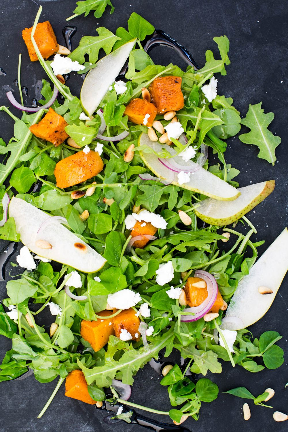 Rocket, Pear & Pumpkin salad | Nadia Felsch