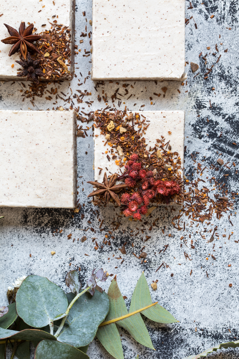 Raw Coconut Chai Slice