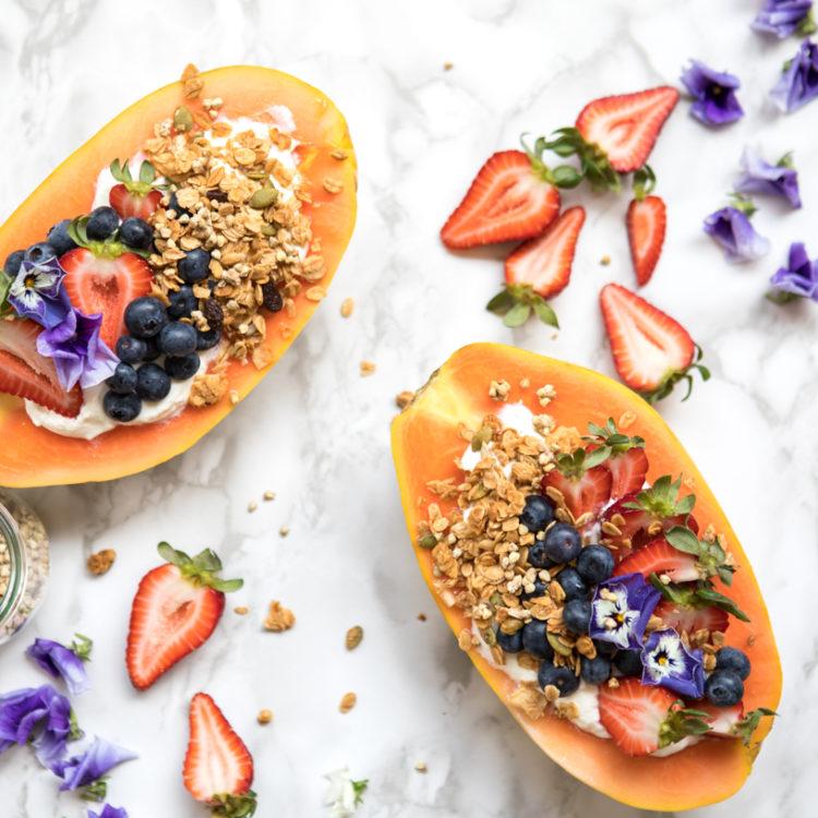 Papaya Muesli Bowls | Nadia Felsch