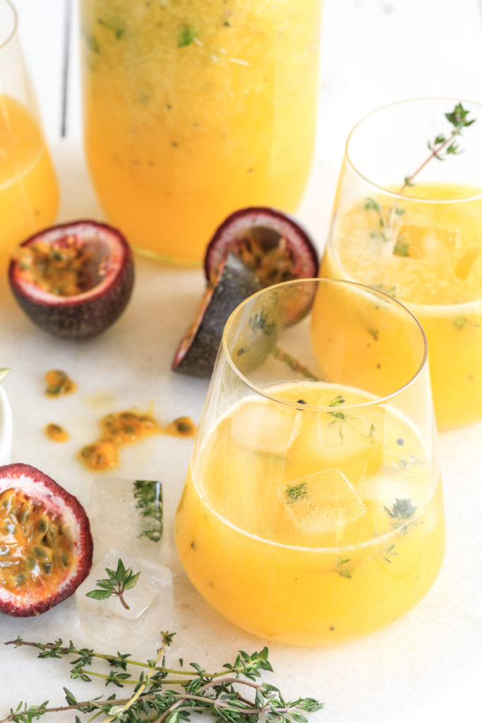 Mango, Passionfruit, Lime & Thyme Spritzer | Nadia Felsch