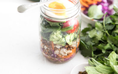 Layered Salad Jar + Honey Mustard Dressing