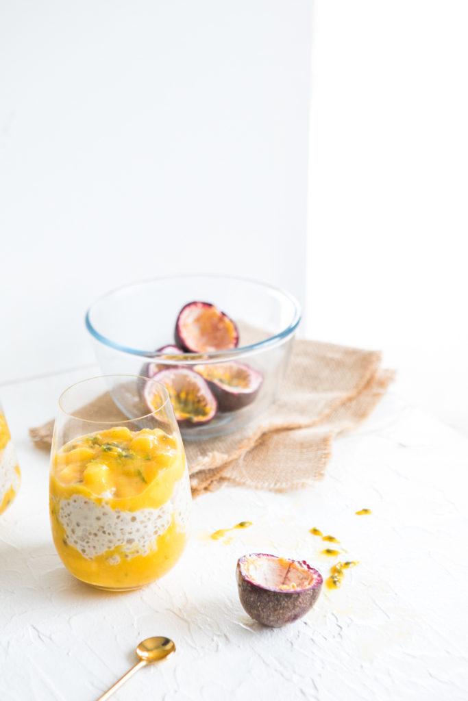 Coconut, Mango, Lime & Passionfruit Tapioca Pudding | Nadia Felsch