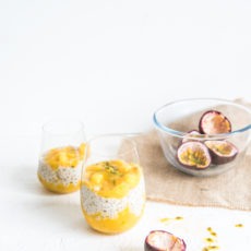 Coconut, Mango, Lime & Passionfruit Tapioca Pudding