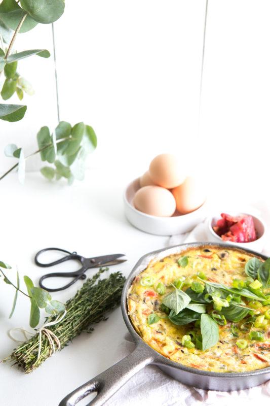 Mushroom, Leek & Cheddar Frittata | Nadia Felsch