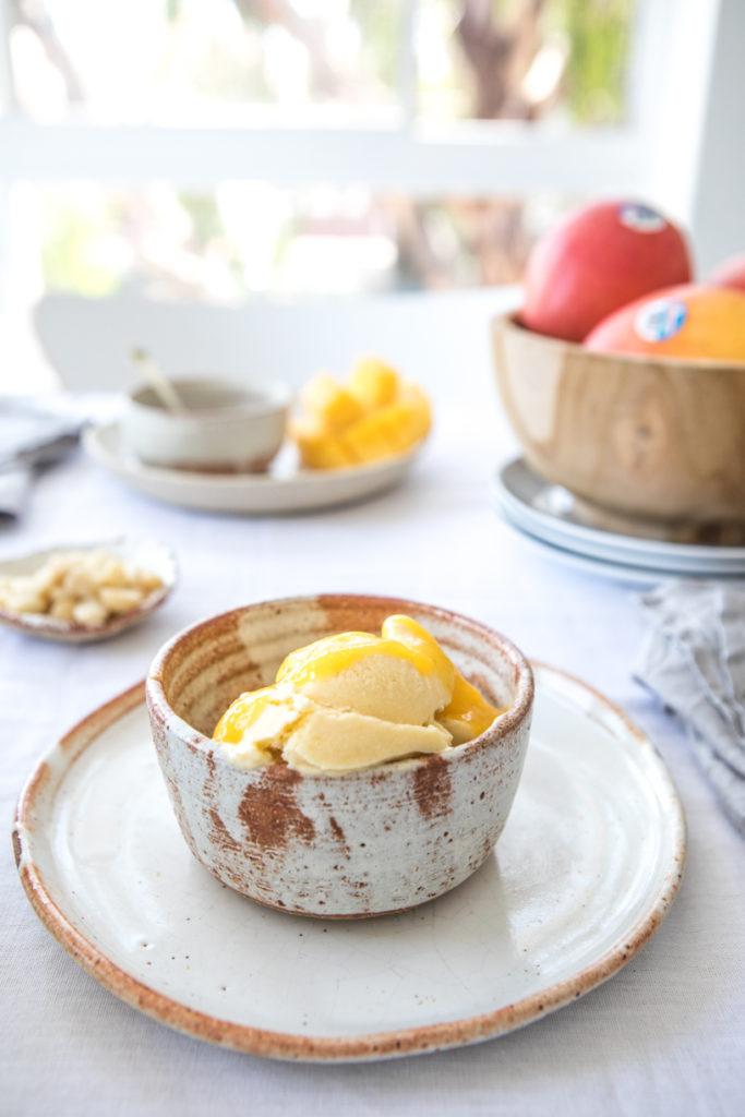 Mango & Macadamia Ice Cream | Nadia Felsch