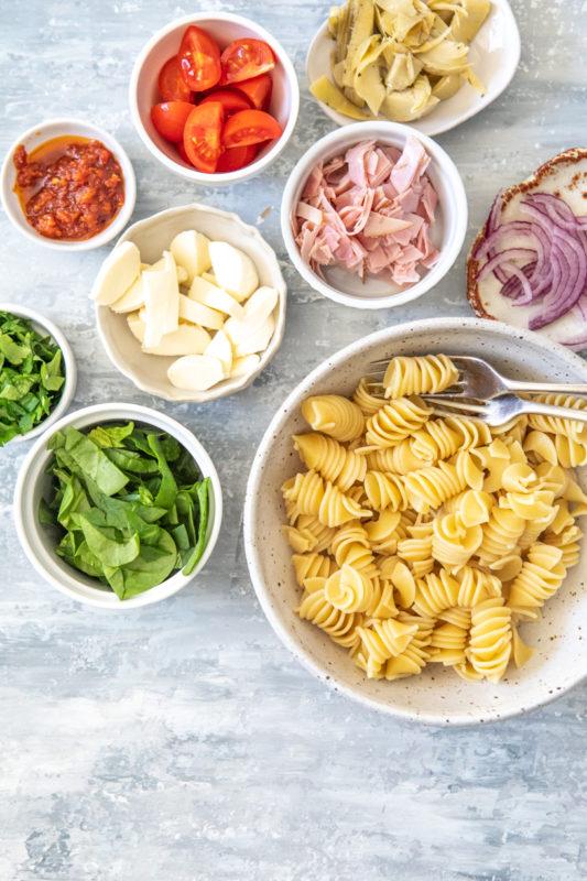 Easy Pasta Salad | Nadia Felsch Nutrition